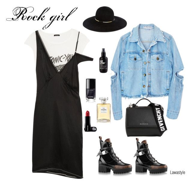 """""""Rock girl"""" by lawastyle on Polyvore featuring R13, Givenchy, Eugenia Kim and Chanel"""