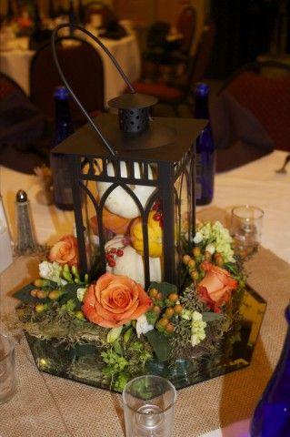 Fall Wedding Lantern Centerpiece