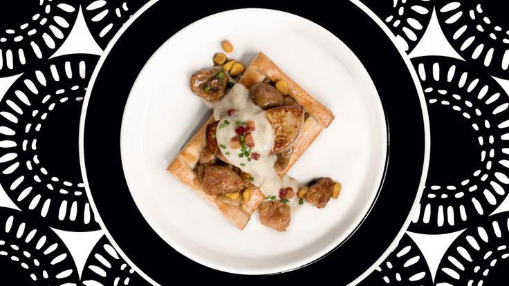 Vol au vent, ris et rognons de veau, foie gras, topinambours - Version Gourmande