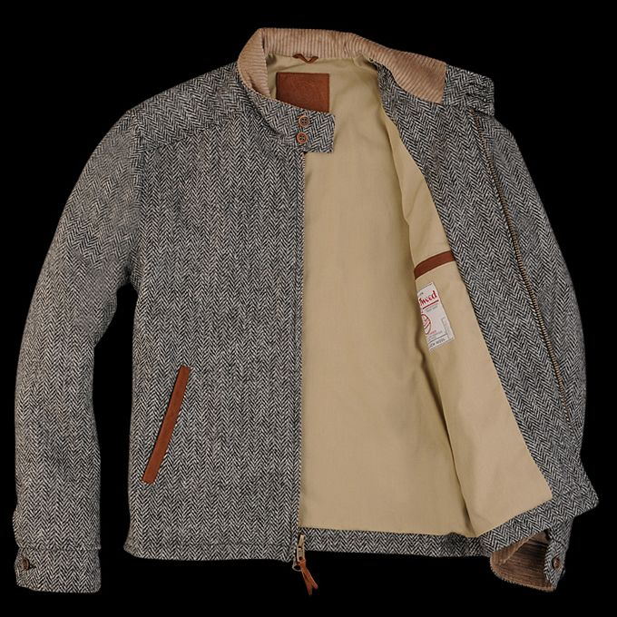 UNIONMADE Harris Tweed - Golden Bear Barracuda in Charcoal Herringbone //My future man should own this so I can steal it.