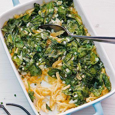 Käsespätzle mit Spinat