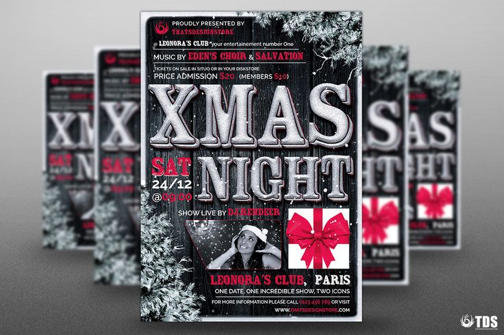 Christmas Eve Flyer Template psd V.7