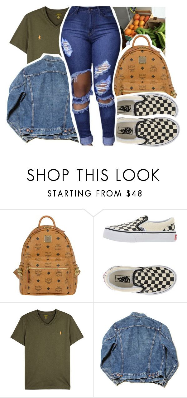 """""""im so anti anti"""" by pinksemia ❤ liked on Polyvore featuring MCM, Vans and Polo Ralph Lauren"""