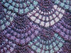 """Сегодня я хочу предложить вашему вниманю мастер-класс по вязанию ракушек в технике """"пэчворк"""".  Для работы нам понабится: спицы, пряжа для вязания нескольких цветов. Для наглядности я взяла черную, с…"""