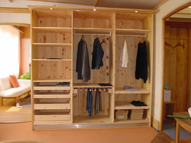 Schrank innen Leben ,innen in Arvenholz Roh fein Geschliffen bed - küchenideen kleine küche
