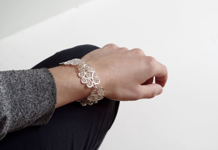 Cloud filigree bracelet  Material: sterling silver