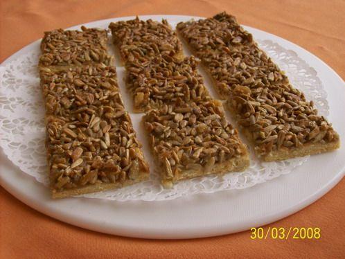 Slunečnicovo-karamelové řezy