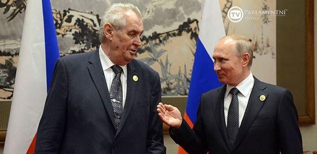 VIDEO Prezident Zeman jednal s Putinem. A pak pronesl zásadní slova k domácímu dění
