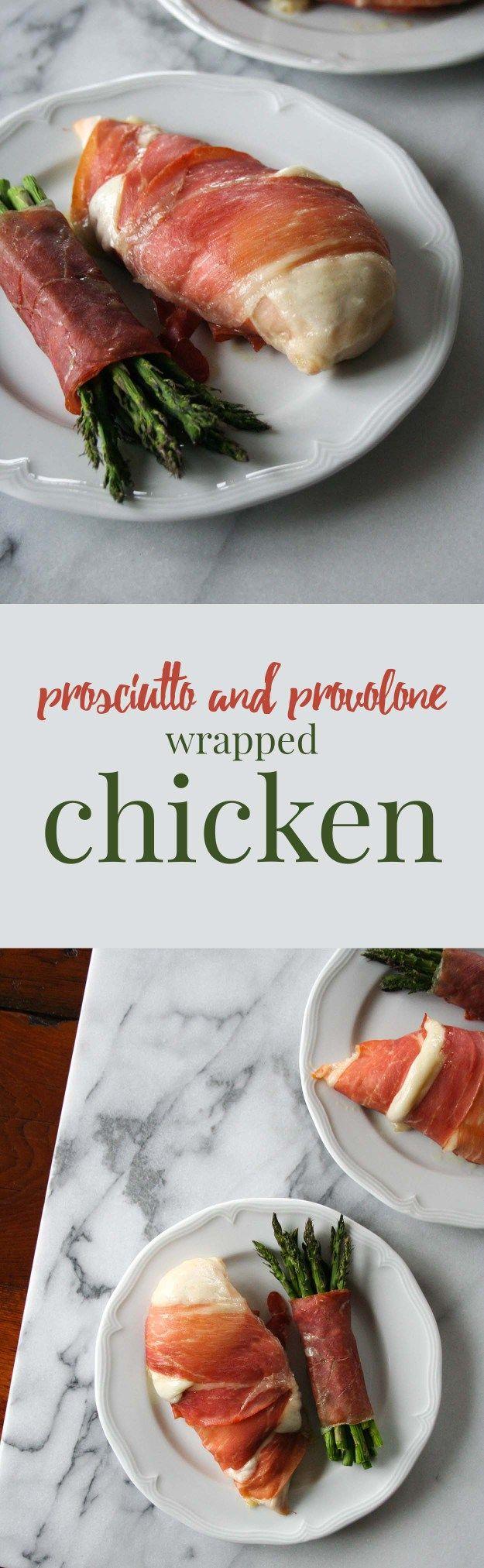 Provolone and Prosciutto Wrapped Chicken