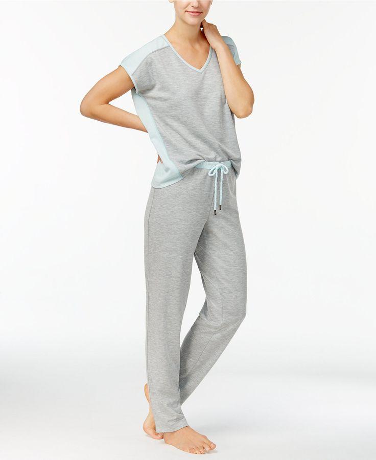 Nautica Reversible French Terry T-Shirt & Pajama Pants Sleep Separates - Ladies Pajamas - SLP - Macy's