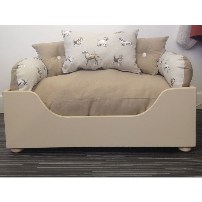 Medium Designer Wooden Dog Bed - Winnie's Pups and Hounds - 3 In 1 Style Listing in the Accessories,Pets,Home & Garden Category on eBid United Kingdom