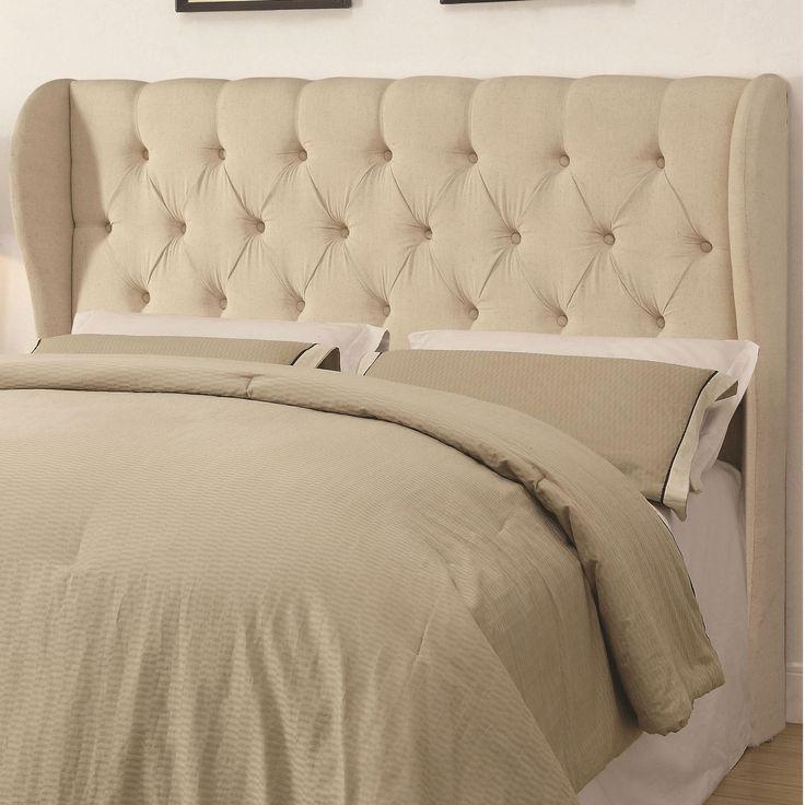 coaster king upholstered - Upholstered Headboard King