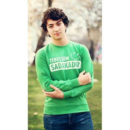 MY WAY ISLAM Tebessüm Sadakadır, sweatshirt, İslami mesajlar veren Tişörtler