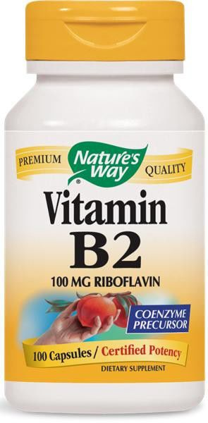 Details about Nature s Way Vitamin B2 100 mg 100 Capsules