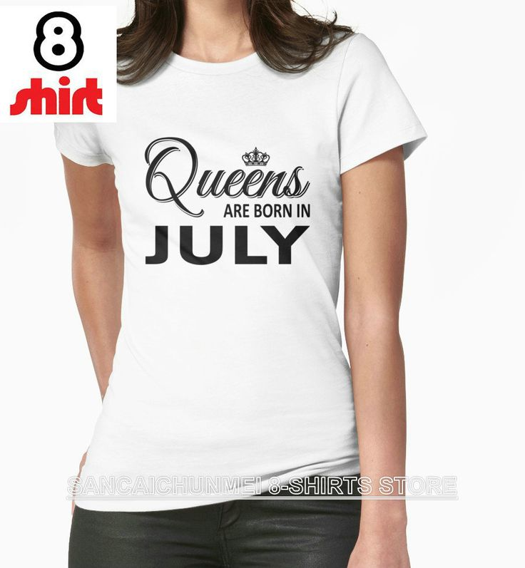 2017 Tumblr Camisetas 8-shirts Shirt Design Website O-neck Short Sleeve Fashion Womens For Queens Are Born In July T Shirts
