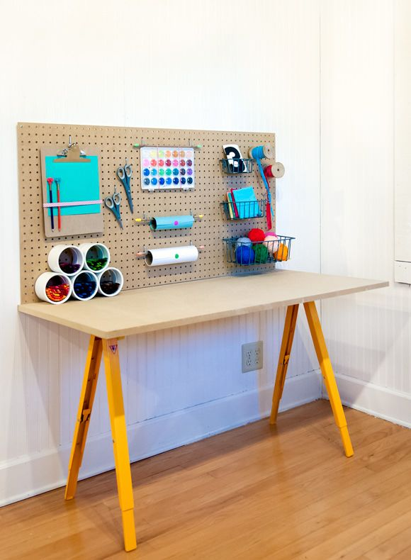 Store All Of Your Kid's Crafts For Under $50 via Handmade Charlotte