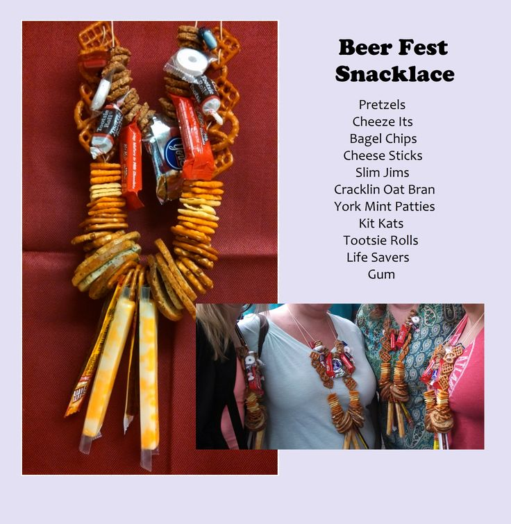 Snacklace! Beer festival pretzel necklace masterpiece by babsinatl.