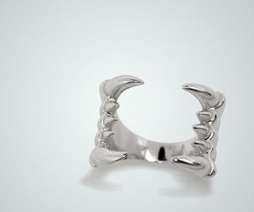 Silver Fangs Ring