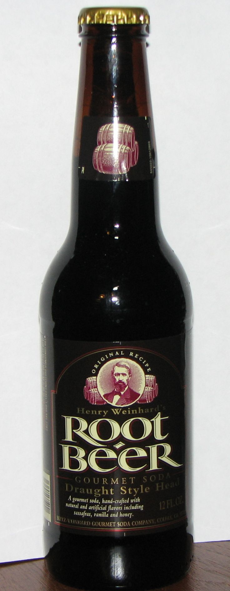 Henry Weinhard's Root Beer. Made in Colfax, CA. Purchased