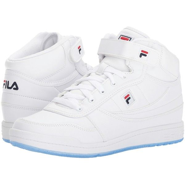 Fila BBN 84 Ice (White/Fila Navy/Fila Red) Men's Shoes ($50) ❤ liked on Polyvore featuring men's fashion, men's shoes, white, mens white velcro shoes, mens velcro shoes, mens velcro strap shoes, mens red shoes and mens white shoes