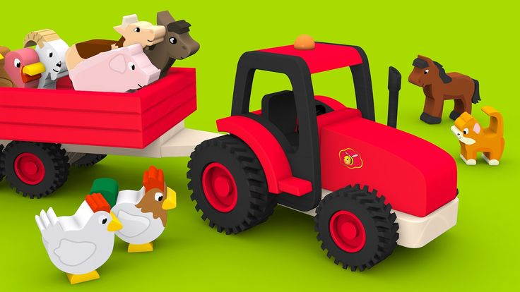 Farm animals and their sounds for children. Educational video for babies...
