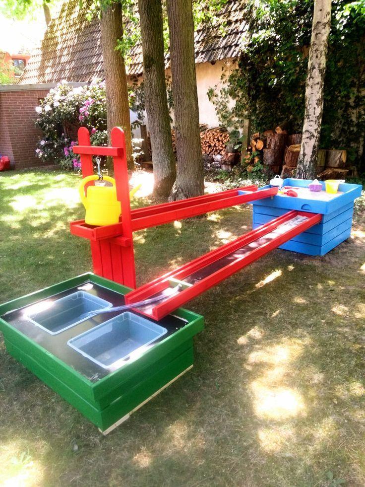 Wir Bauen Uns Einen Wasserspielplatz Diy Experimente Fur Kinder