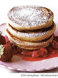 Whole-Wheat Pancakes with Strawberry Sauce by Ellie Krieger