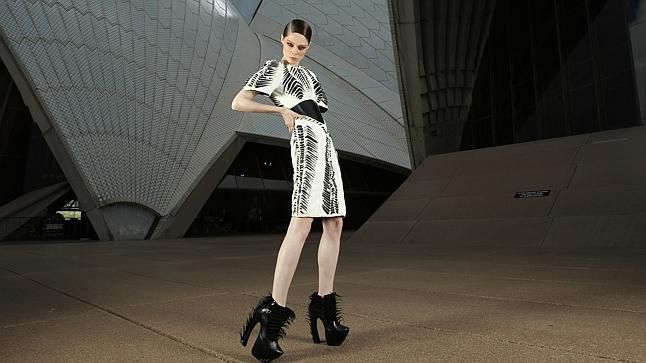 How to rock a dress made by 3D printer. See other 3D printing in action at CeBIT Australia 28-30th May 2013.  From the Australian Financial Review by Matthew Drummond. Photo by Louise Kennerley.  What to wear when you're the world's first digital supermodel? A couture dress made on a 3D printer, but of course.   Coco Rocha, a 24-year-old Canadian launched her career from her own blog and now has 8 million followers on social media platforms.