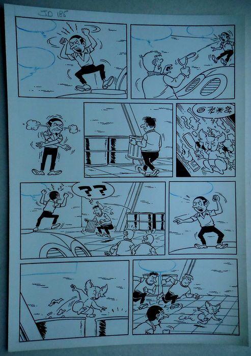 Studio Vandersteen - Originele pagina (p.12) - Jerom - De zwarte vlekken - (begin jaren '70)  Originele pagina van Jeromdoor Studio VandersteenDe zwarte vlekkenGeldt als nummer 185 in de Duitse nummering gehanteerd door de Studio Vandersteen.  EUR 1.00  Meer informatie