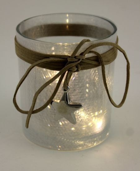 Glass Frost White Cup with LED Dazzle Lights - $10.