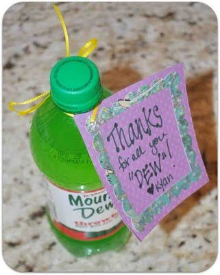 "Thanks for all you ""dew""! Cute & Inexpensive gift just to say,"