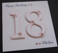 Handmade Personalised 16th 18th 21st Birthday Card