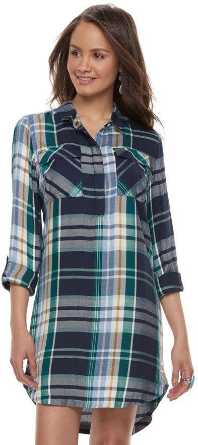 ba439ee39 Juniors' SO® Twill Utility Shirt Dress   Products   Shirt Dress ...