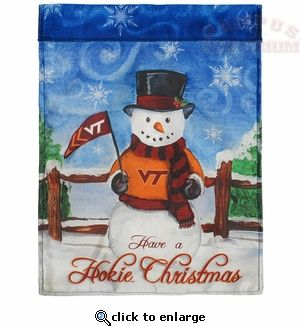 Decorate your home with a Virginia Tech snowman wishing you to have a Hokie Christmas!