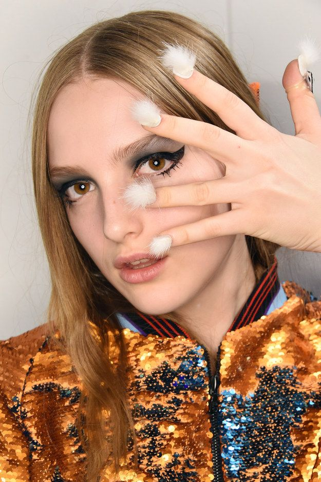 I repeat, NAILS. COVERED. IN. FUR. | This New Fur Nail Trend Is Stressing Me The F Out