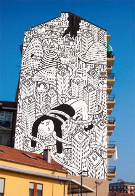 Torino, così il writer Millo cambia volto alle case di Barriera