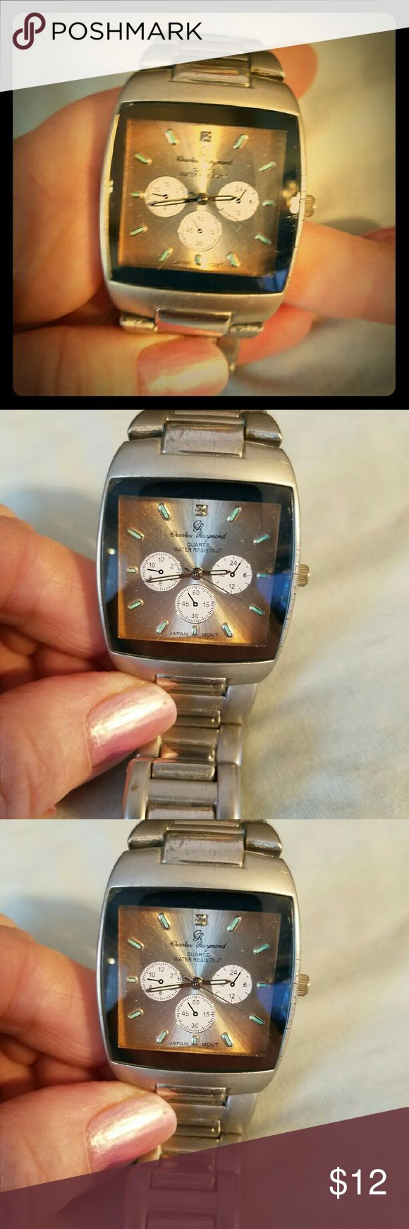 Men's Charles Raymond Watch Used but in Great condition too Charles Raymond  Accessories Watches