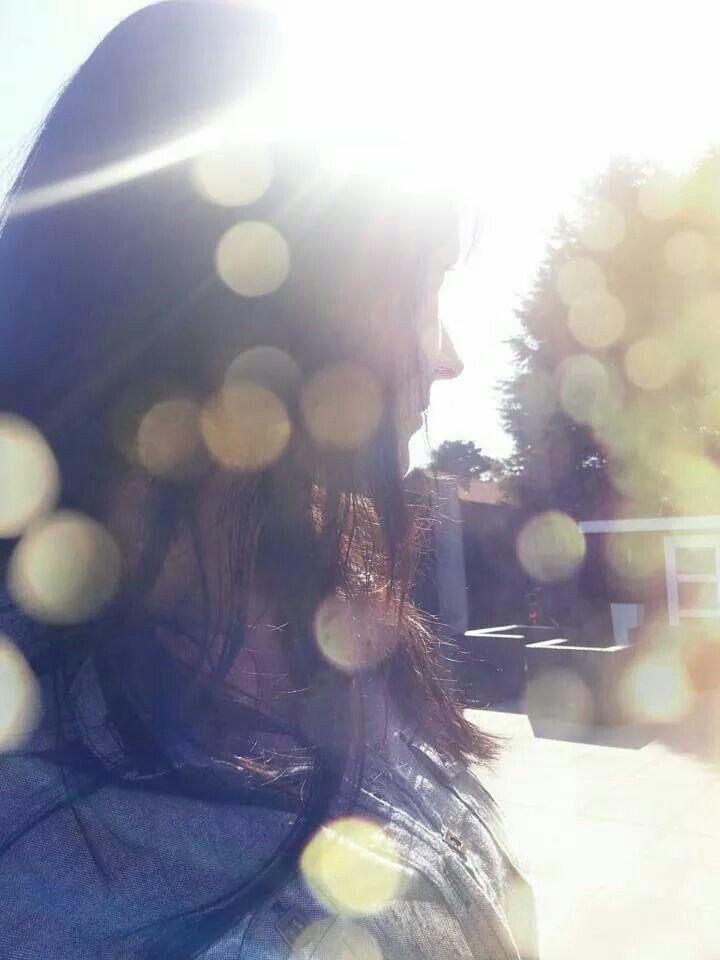 Bathing in sunlight