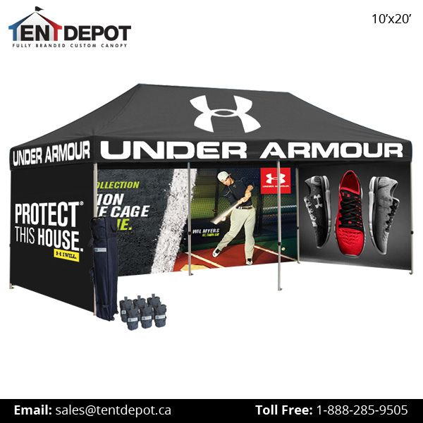 Buy online #Custom #Canopy #Tents for Sale with Graphics & Available In Various Sizes. Visit: https://www.tentdepot.ca/custom-printed-canopy-tents