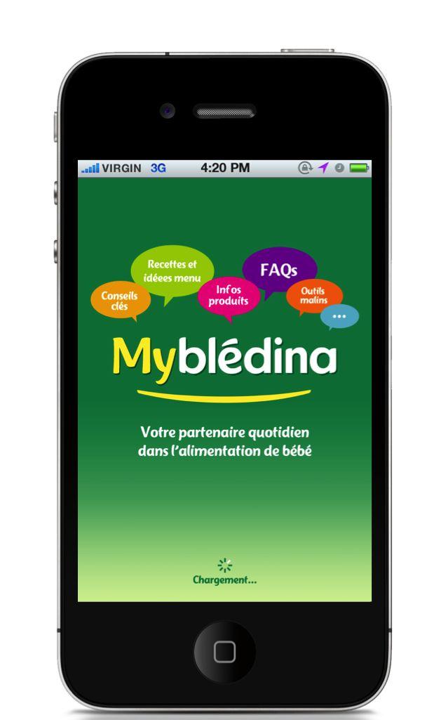 MyBlédina Application mobile - Splashscreen