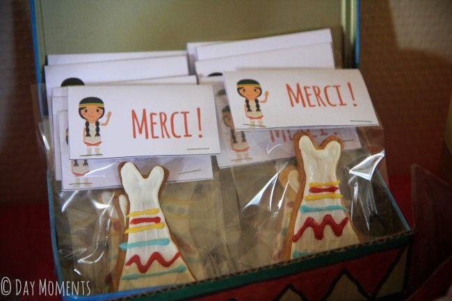 anniversaire indien pow wow biscuits tipi