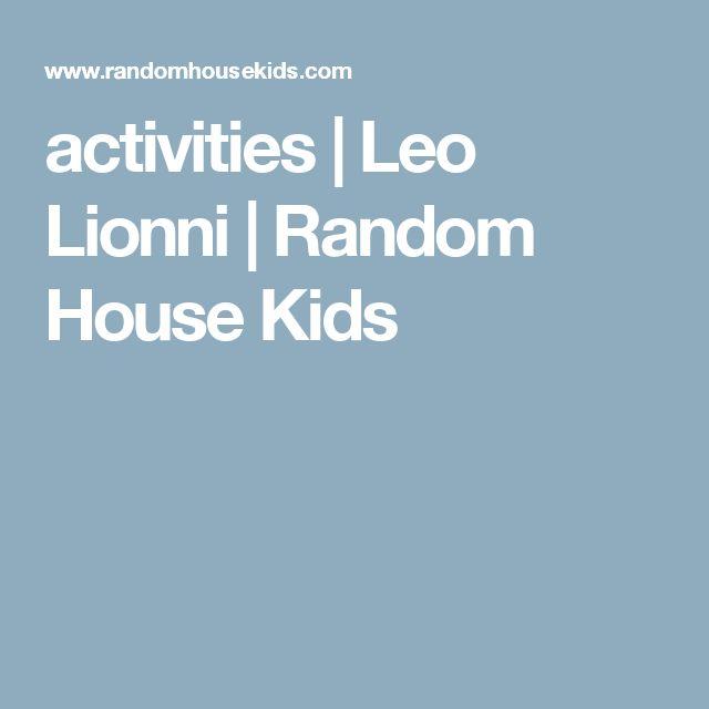 activities   Leo Lionni   Random House Kids
