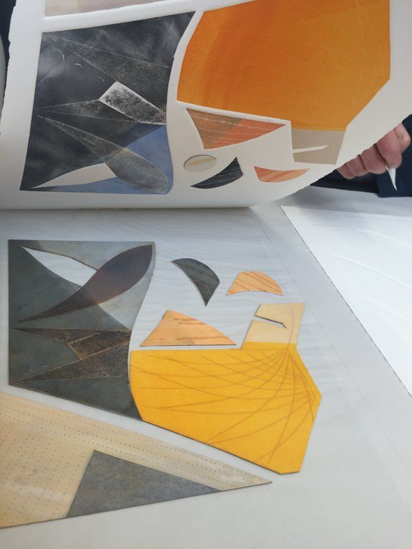"""Day two #collagraph #printmaking with Charles Shearer. More pics soon. Too busy having fun!"""