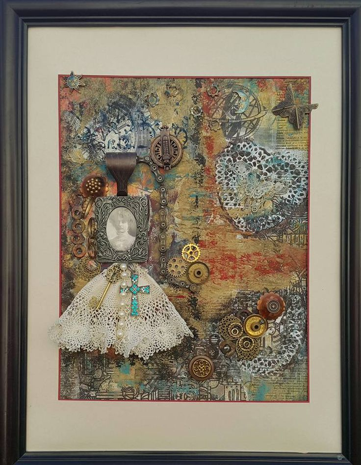 My Great Aunt by Thérèse Quinlivan  - Steampunk Artwork a mixed media creation