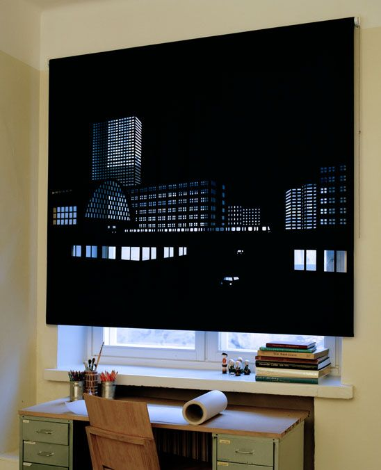 Better View: perforated black out roller blinds. (Designer: Elina Aalto)
