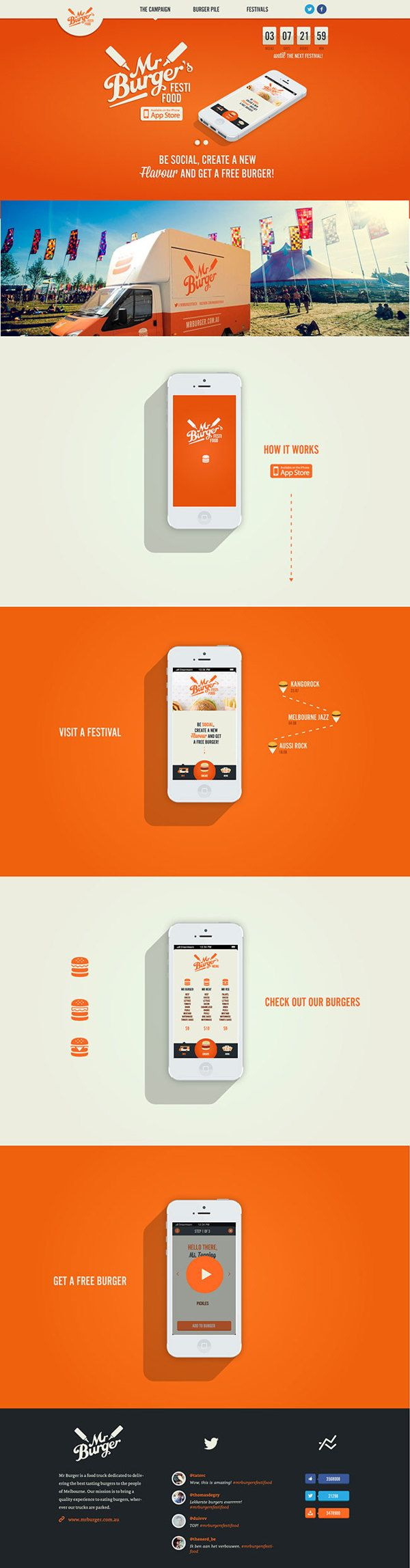 Mr. Burgers Festi Food by Tatiana Van Campenhout, via Behance more on http://themeforest.net/?ref=Vision7Studio