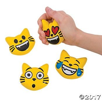 EmojiCats Stress Toys - 12 Pack Party Supplies Canada - Open A Party
