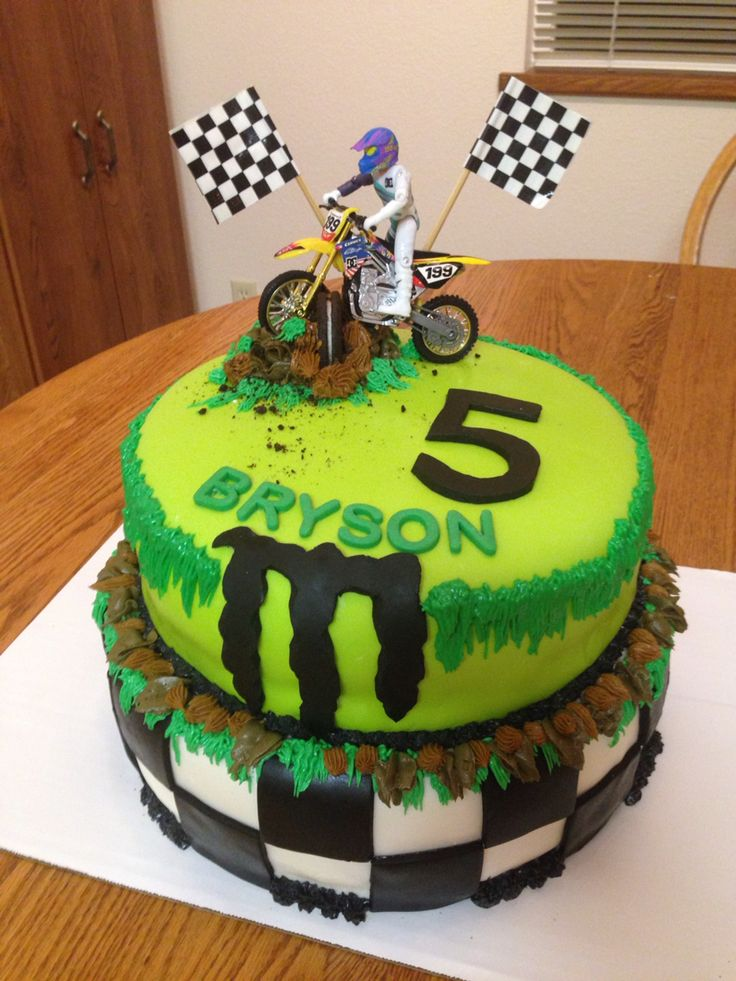 Monster Energy cake for Bryson's 5th birthday.