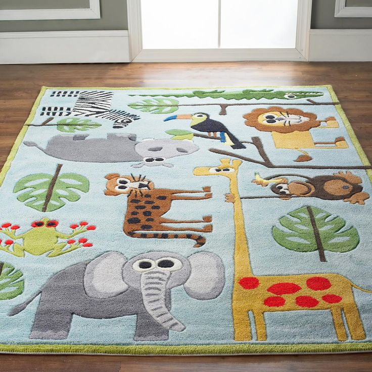 Whimsical Safari Animals Rug Did we already pin this? It is super cute