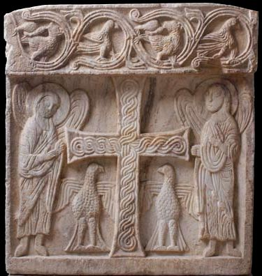 Parapet - plate from the church of the Saint Toma in Kuti near Herceg Novi, from XI century.